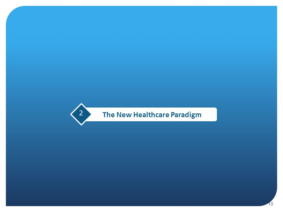 10 2 The New Healthcare Paradigm