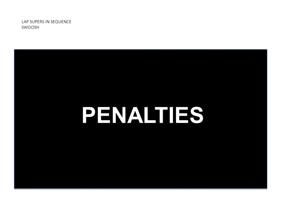 LAP SUPERS IN SEQUENCE SWOOSH PRESENTED BY ICDUniversity PENALTIES