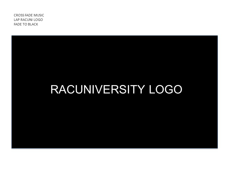 CROSS FADE MUSIC LAP RACUNI LOGO FADE TO BLACK PRESENTED BY ICDUniversity RACUNIVERSITY LOGO