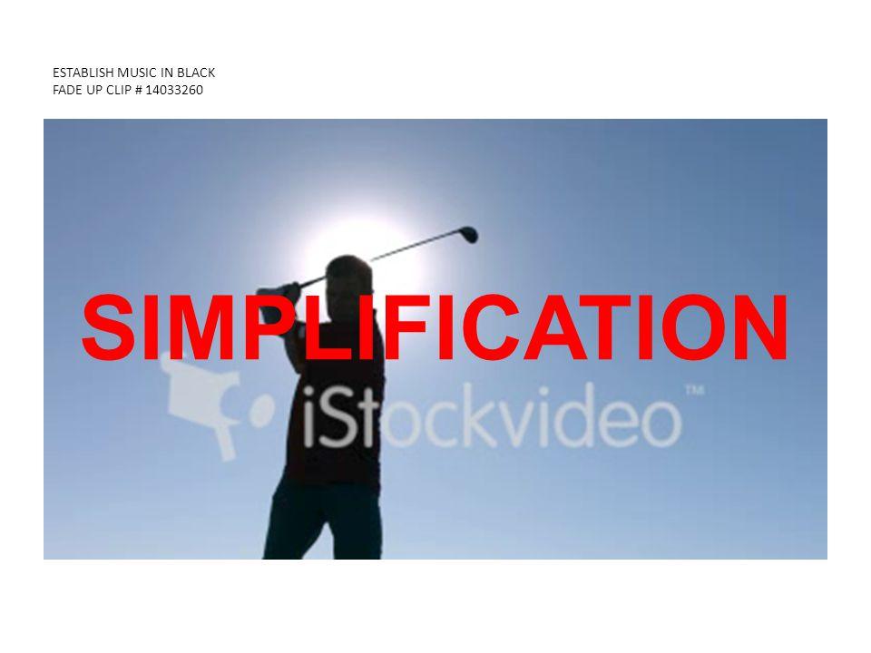 ESTABLISH MUSIC IN BLACK FADE UP CLIP # 14033260 SIMPLIFICATION