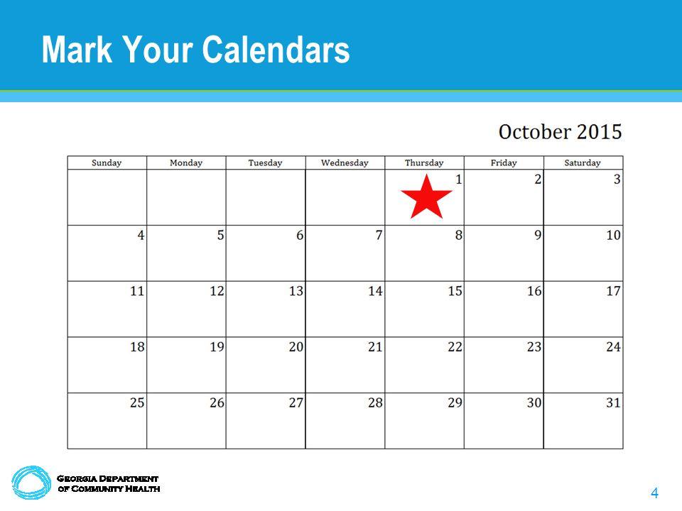 4 Mark Your Calendars