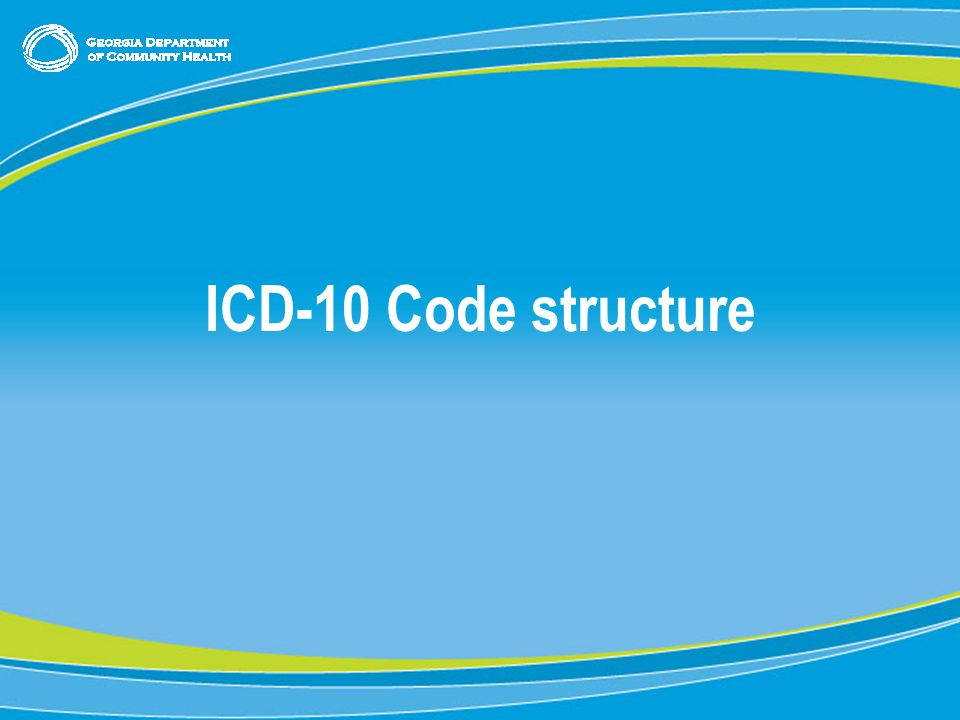 8 ICD-10 Code structure