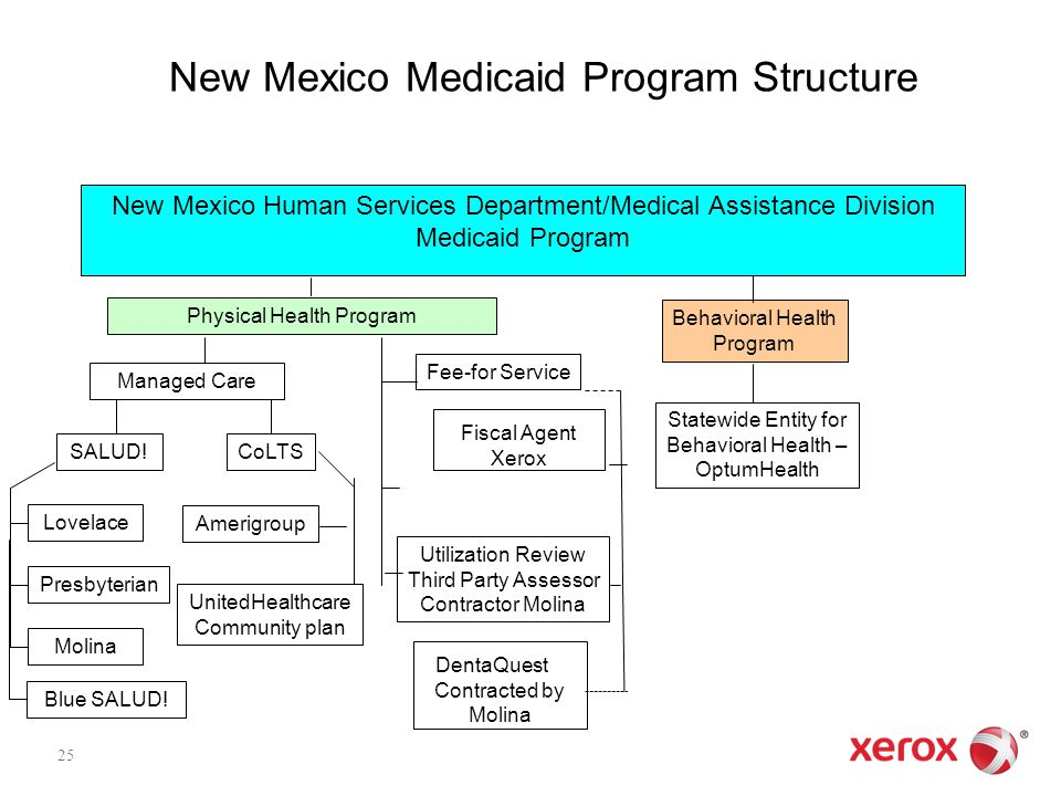 New Mexico Human Services Department/Medical Assistance Division Medicaid Program Physical Health Program Managed Care Lovelace Presbyterian Molina Fe