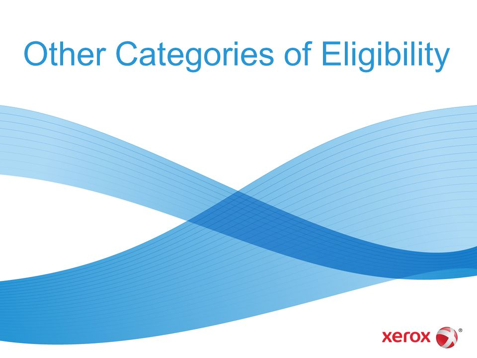 Other Categories of Eligibility