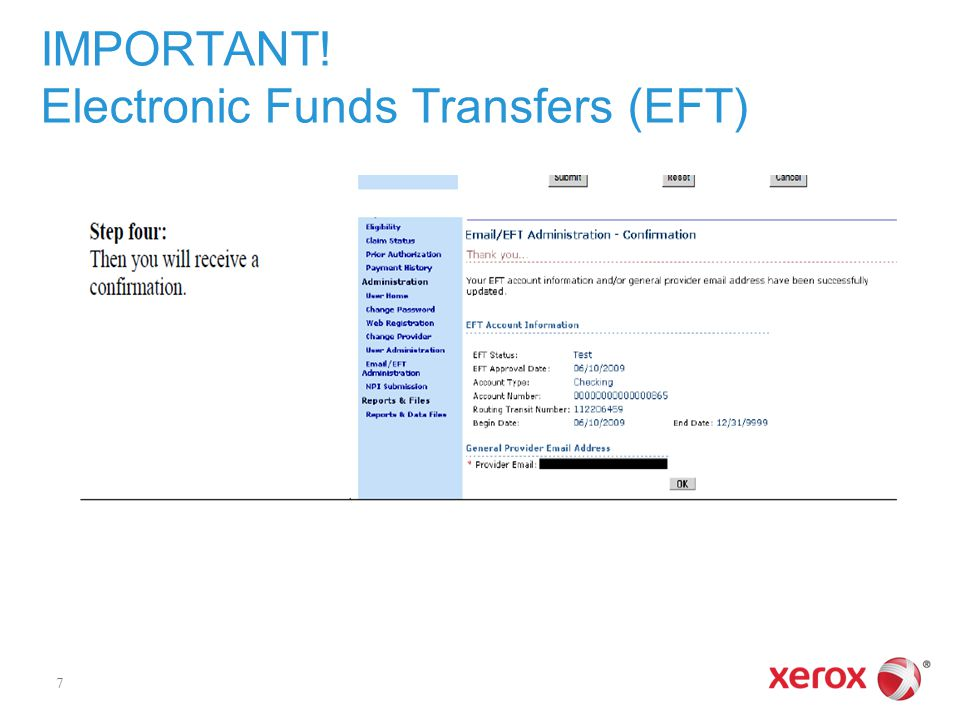 IMPORTANT! Electronic Funds Transfers (EFT) 7