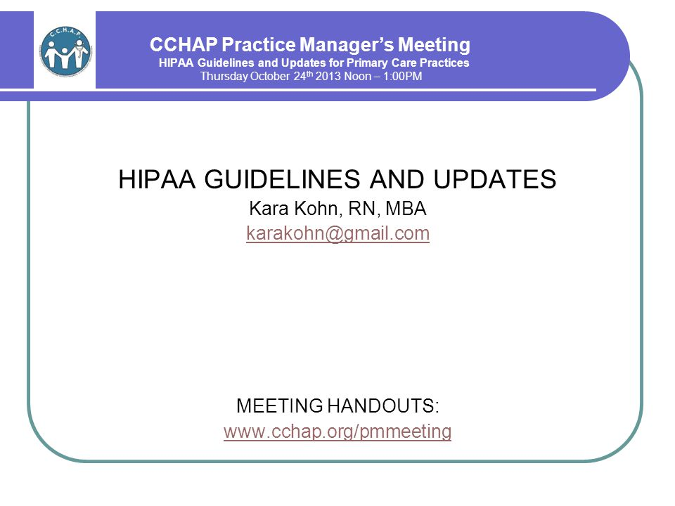 HIPAA 2013 Omnibus Rules and Updates