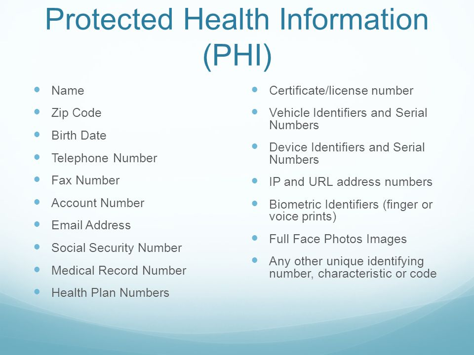 Examples of a Breach cont.