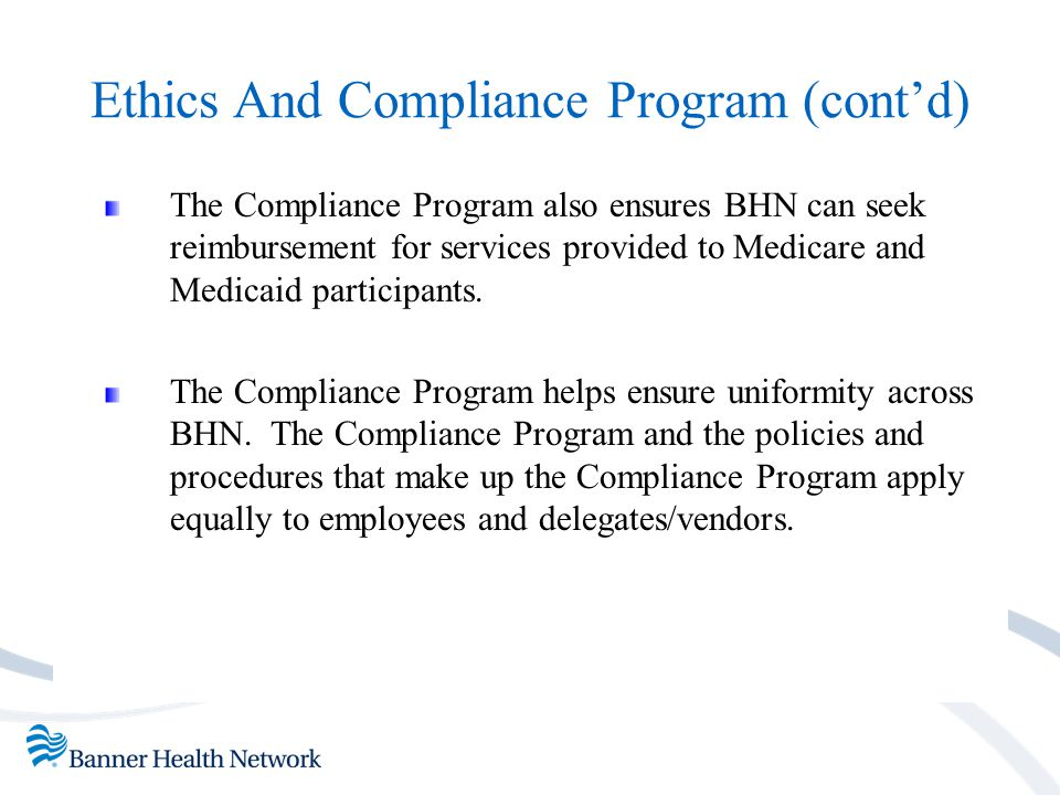 Compliance Program Basics The Office of Inspector General (OIG) has outlined 7 components of an effective compliance program.