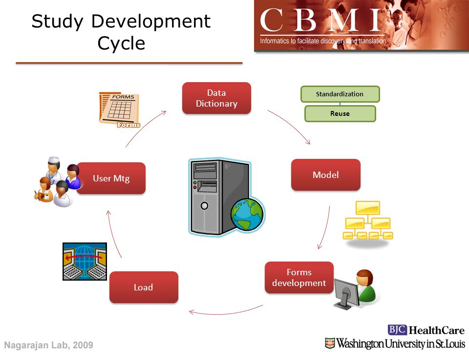 Data Dictionary Model Forms development LoadUser Mtg Reuse Standardization Study Development Cycle