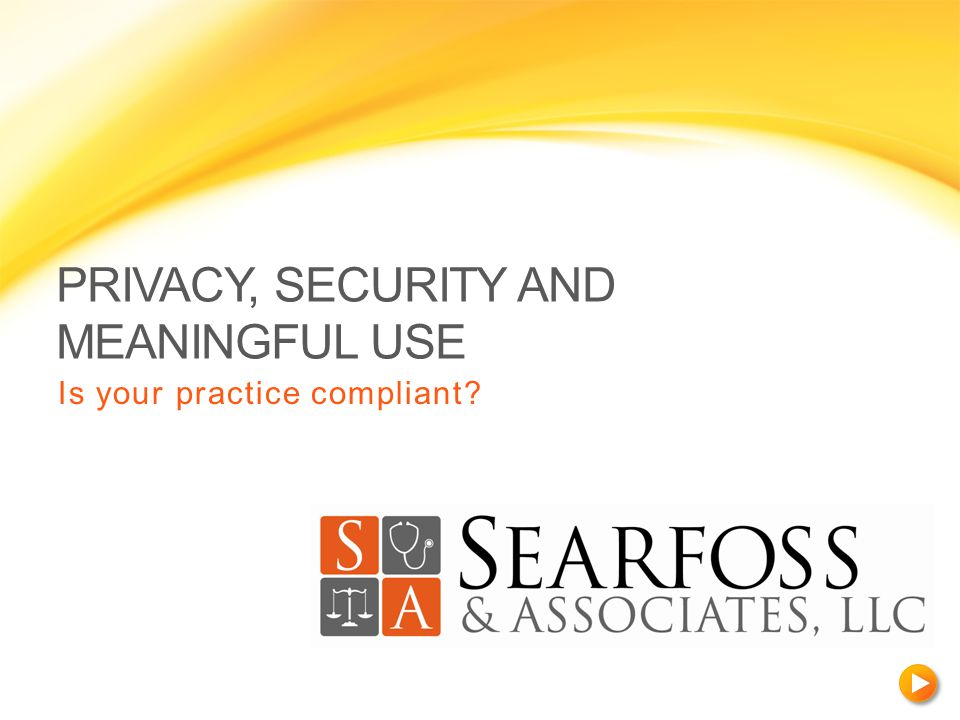ABOUT SEARFOSS & ASSOCIATES With more than 15 years of experience in the health care industry, Searfoss & Associates, LLC offers legal services to individual and group health care providers and integrated health systems.