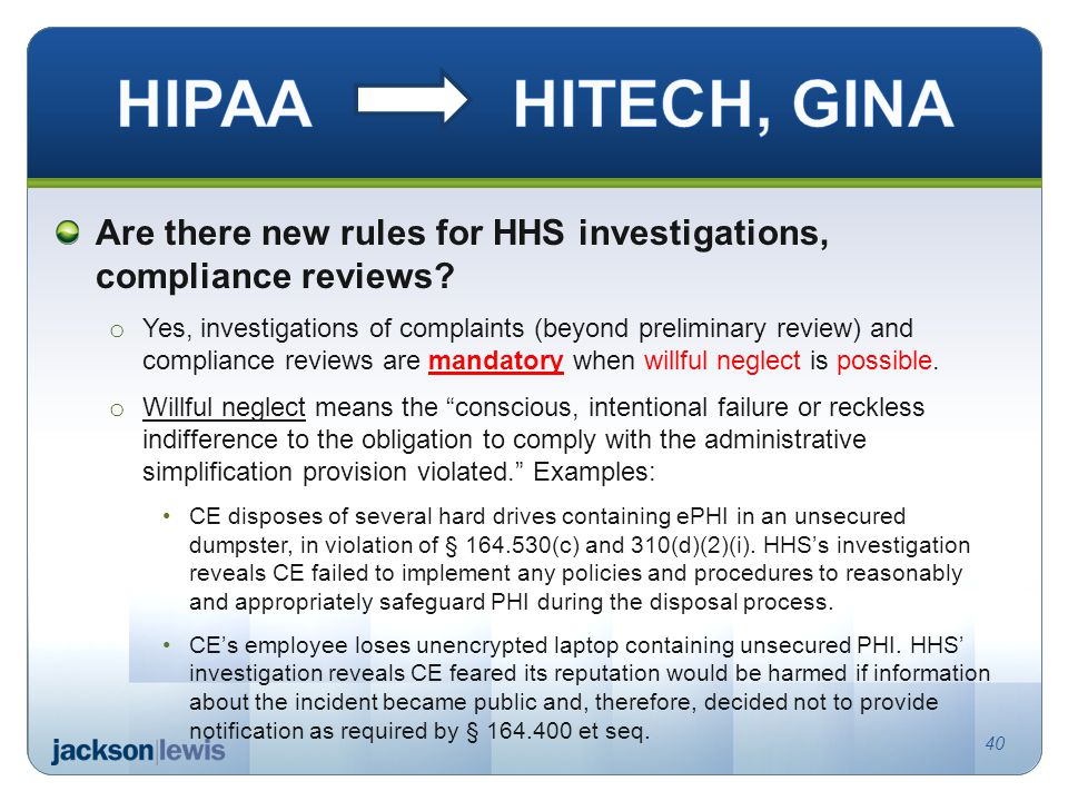 Are there new rules for HHS investigations, compliance reviews.