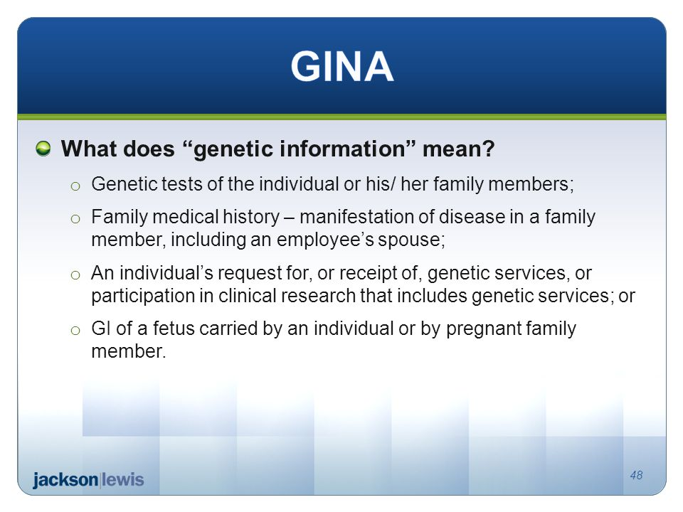 What does genetic information mean.
