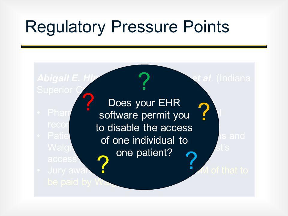 Regulatory Pressure Points Abigail E. Hinchy v. Walgreen Co.