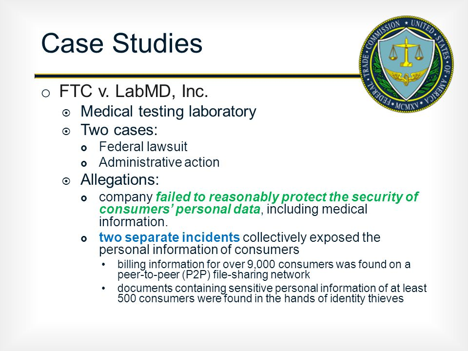 o FTC v.LabMD, Inc.