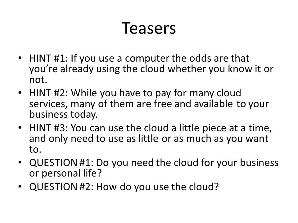 What Is The Cloud.