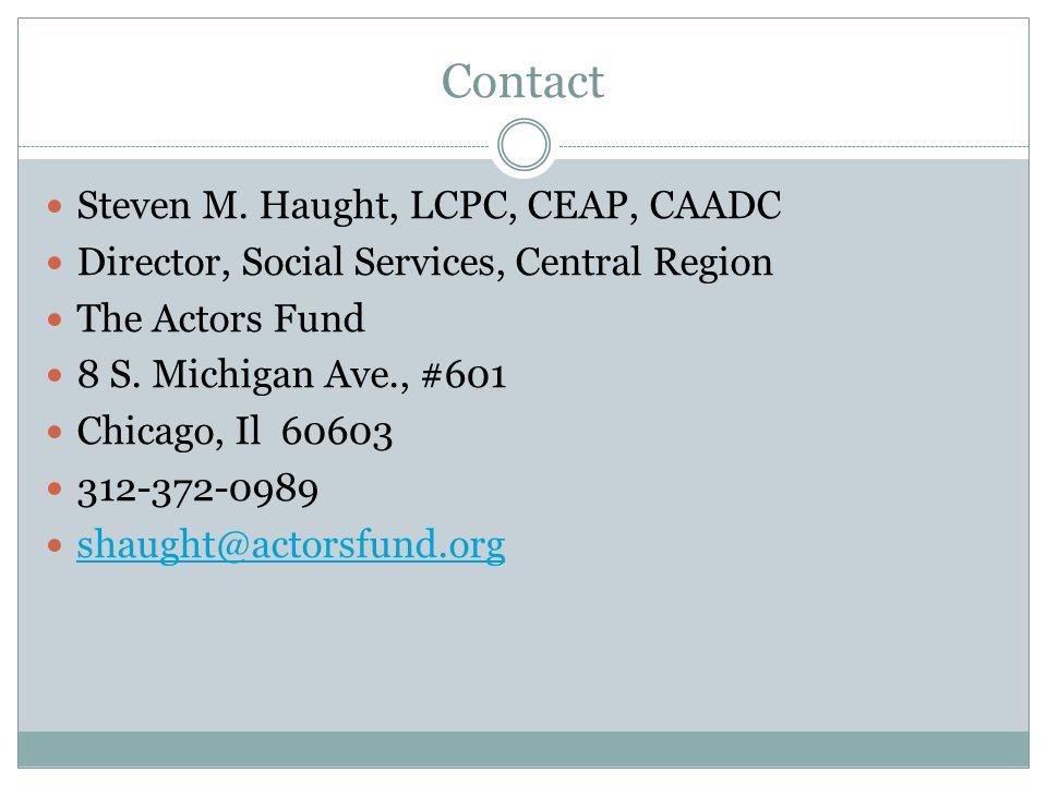 Contact Steven M.