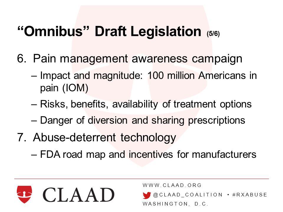 WWW.CLAAD.ORG @CLAAD_COALITION #RXABUSE WASHINGTON, D.C.