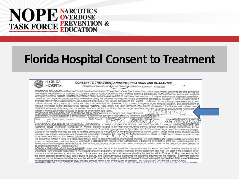 Florida Hospital Consent to Treatment