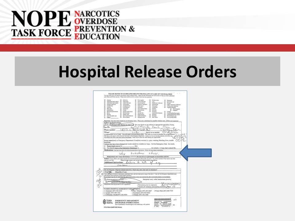 Hospital Release Orders
