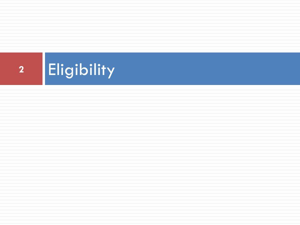 Eligibility 2