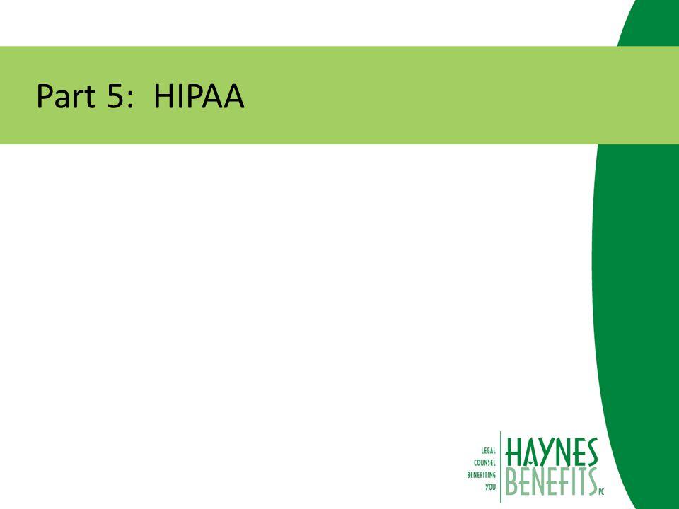 Part 5: HIPAA