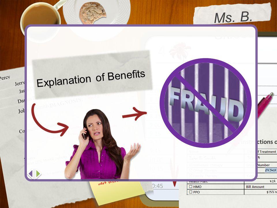 Ms. B. Skloss Explanation of Benefits