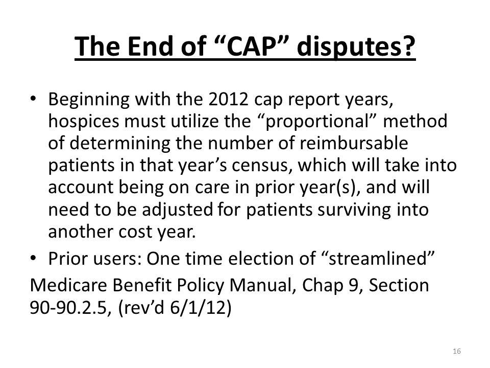 The End of CAP disputes.