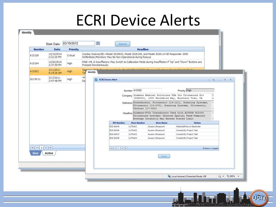 ECRI Device Alerts