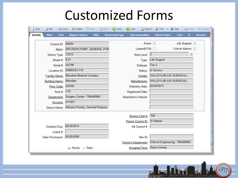 Customized Forms