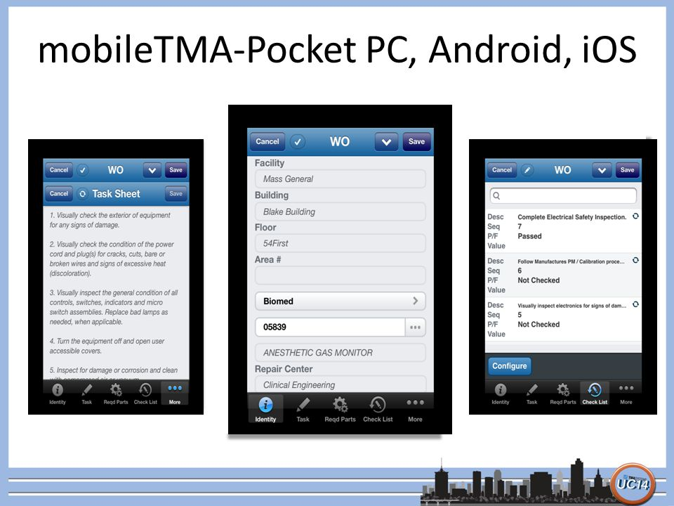 mobileTMA-Pocket PC, Android, iOS Meridian Medical Main 3rd Intensive Care