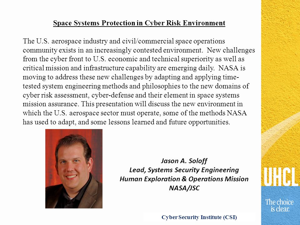 Space Systems Protection in Cyber Risk Environment The U.S.