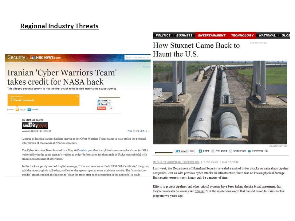 Regional Industry Threats
