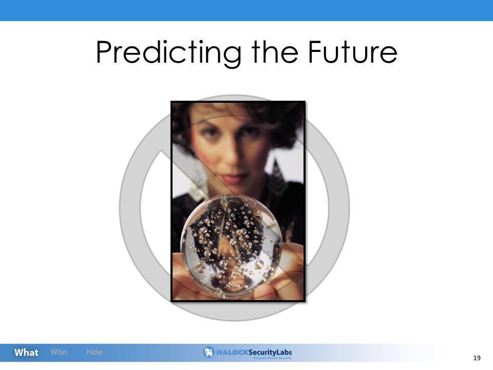 19 Predicting the Future