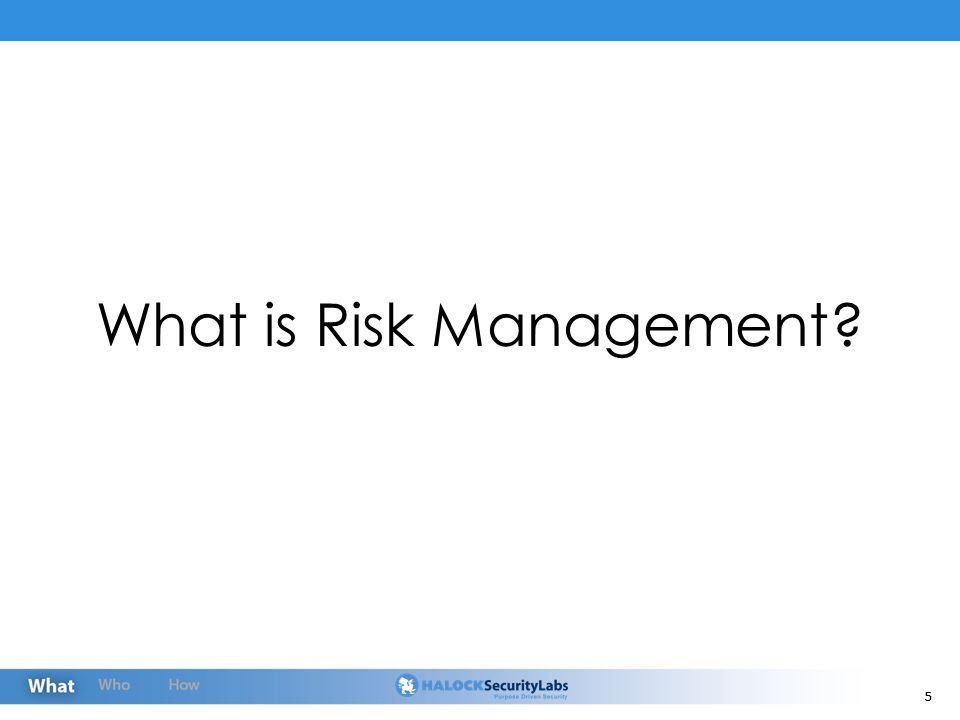 16 What Risk Management Isn't