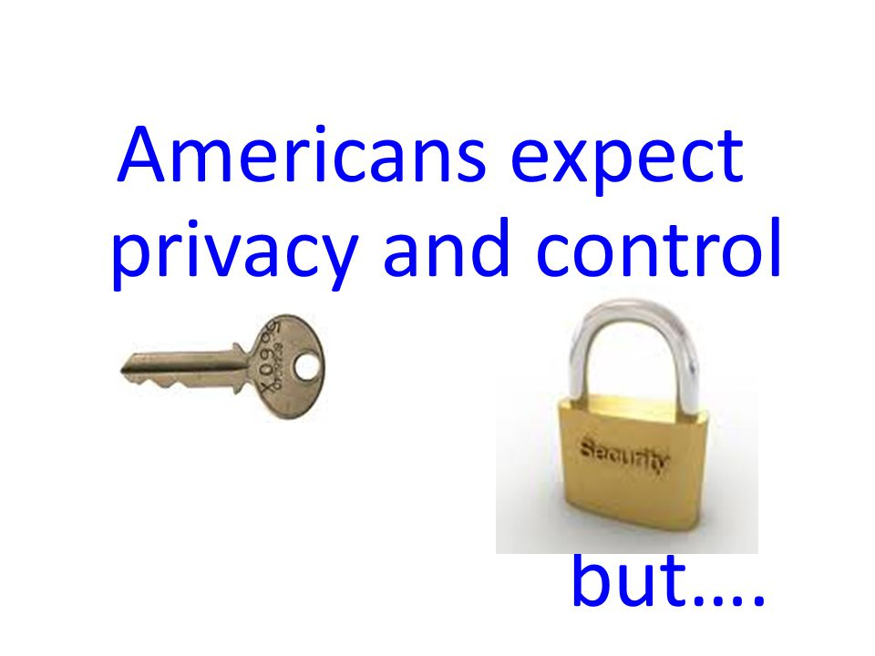 Americans expect privacy and control but….