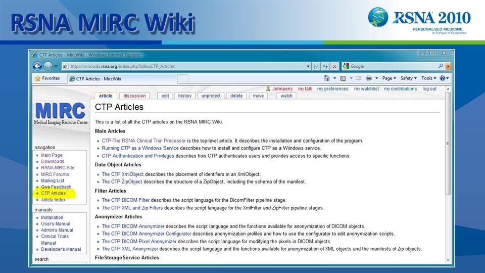 RSNA MIRC Wiki