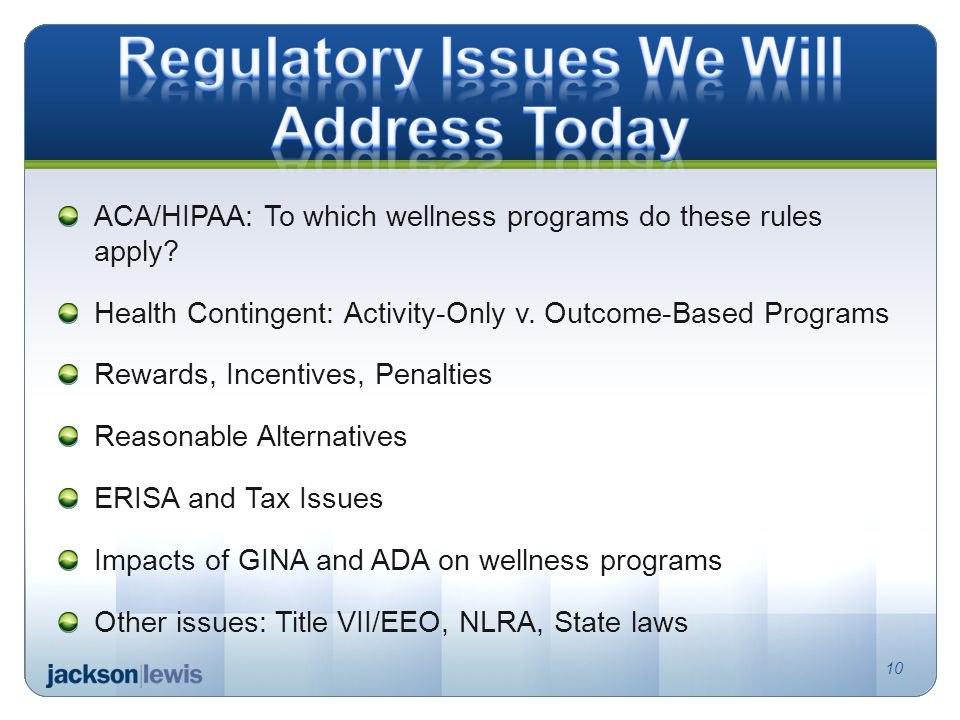 ACA/HIPAA: To which wellness programs do these rules apply.