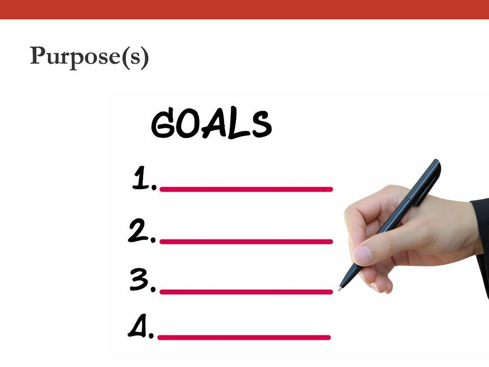 Purpose(s)