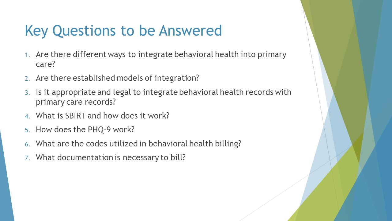 Types of Behavioral Health Services  Counseling  Education  Prevention  Case Management  Medication Management
