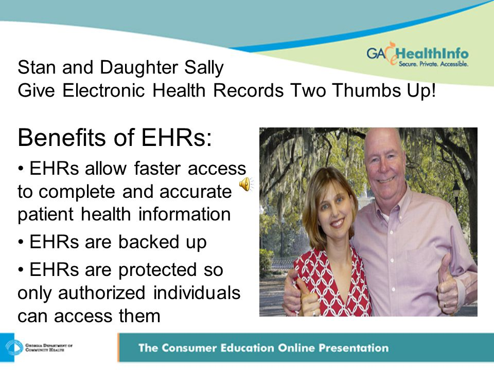 Stan and Daughter Sally Give Electronic Health Records Two Thumbs Up.