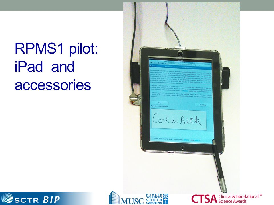 BIP RPMS1 pilot: iPad and accessories 14
