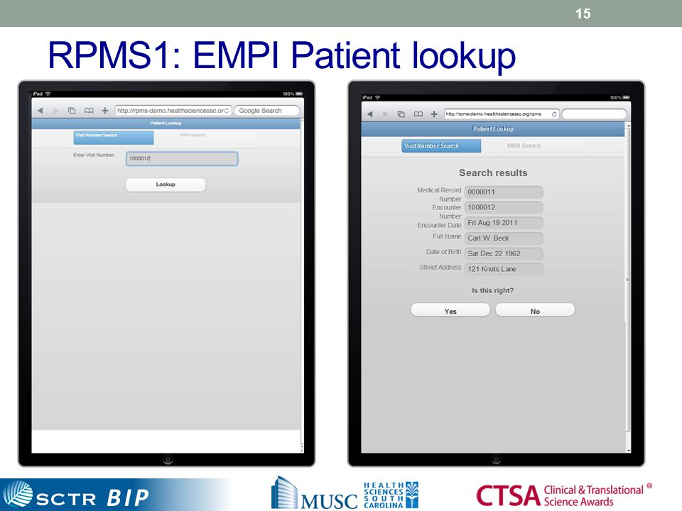 BIP RPMS1: EMPI Patient lookup 15