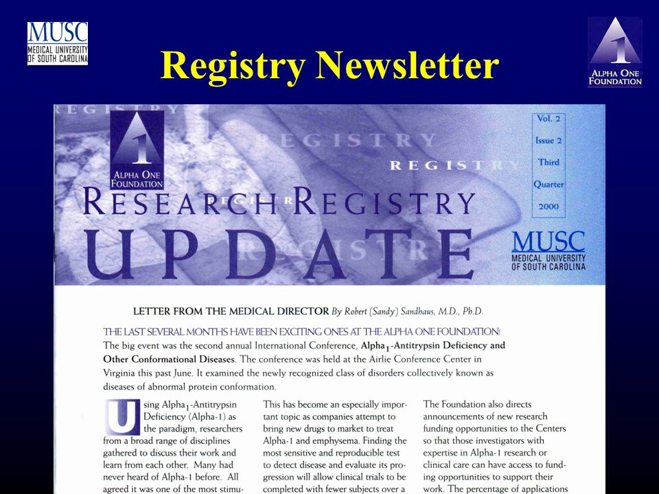 Registry Newsletter