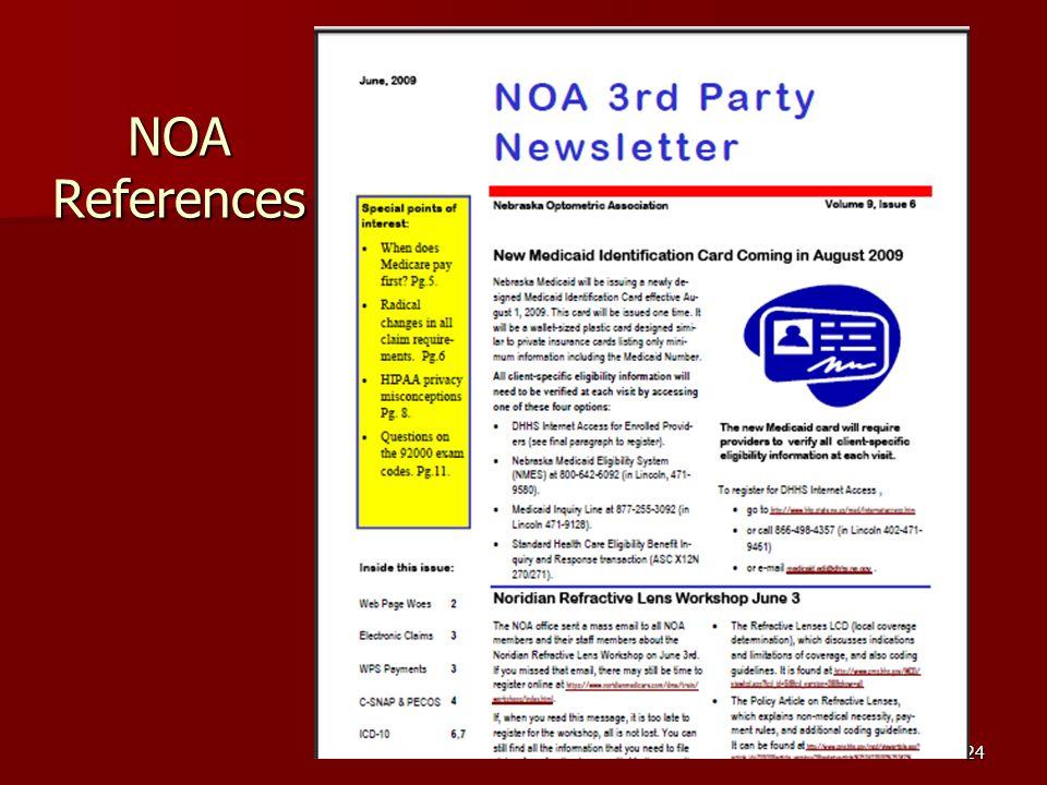 24 NOA References