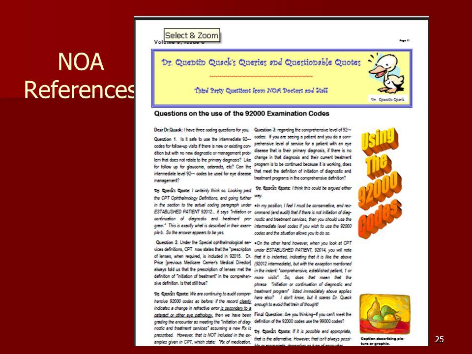 25 NOA References