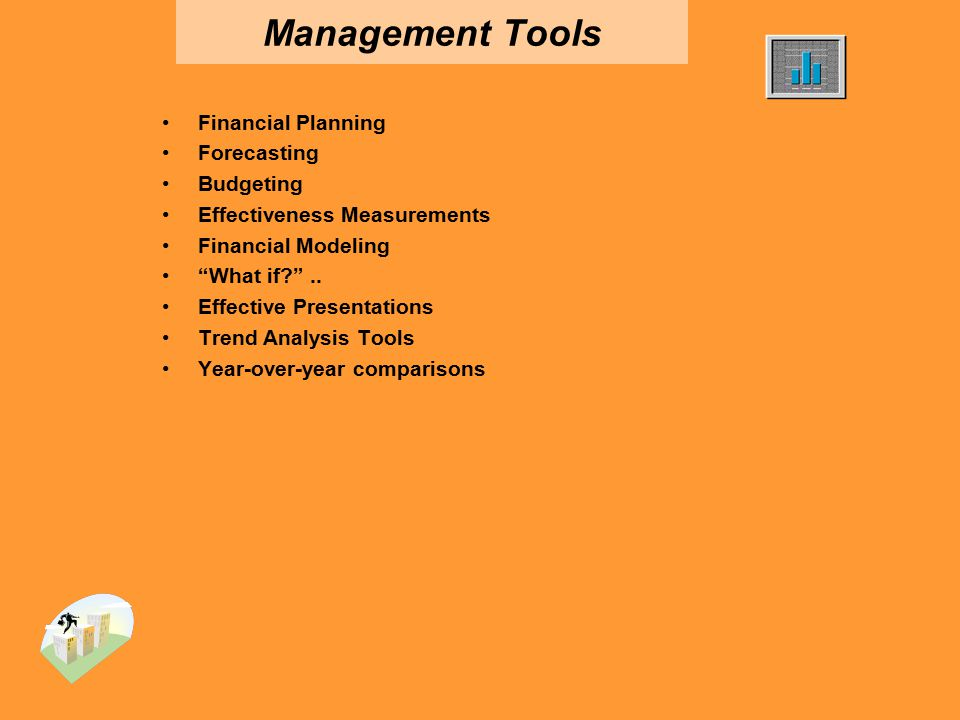 Management Tools Financial Planning Forecasting Budgeting Effectiveness Measurements Financial Modeling What if? ..