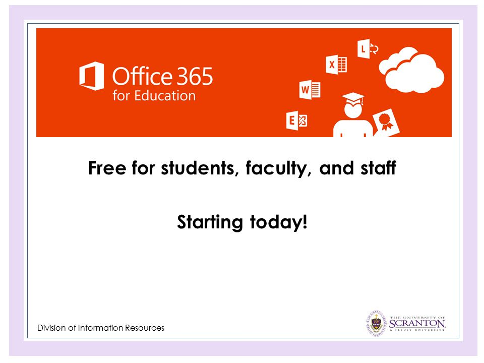 Free for students, faculty, and staff Starting today!