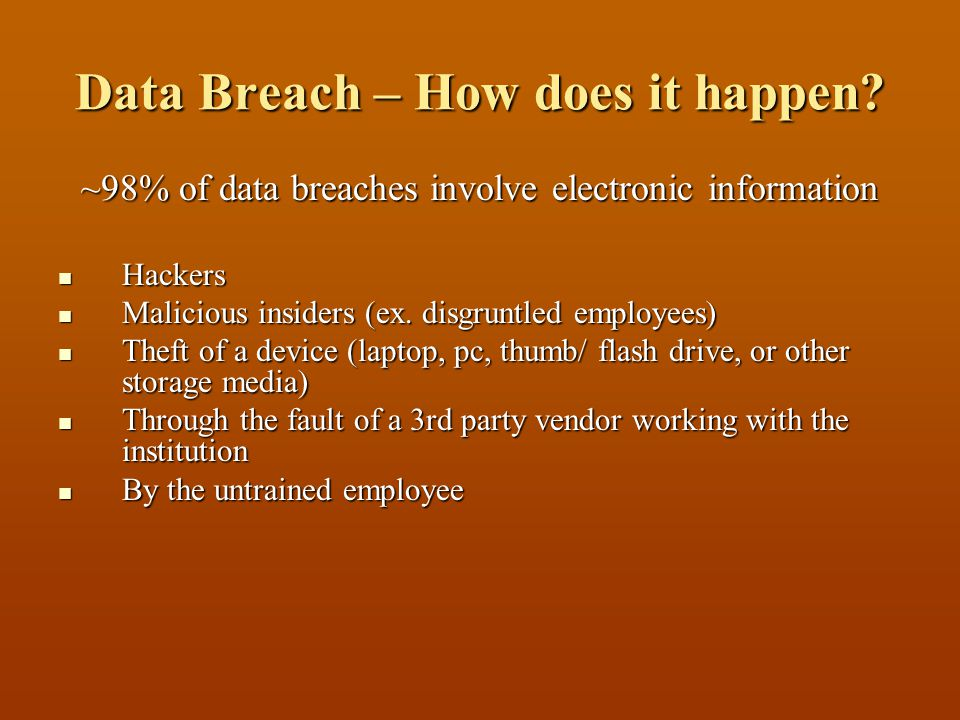 Data Breach – How does it happen.