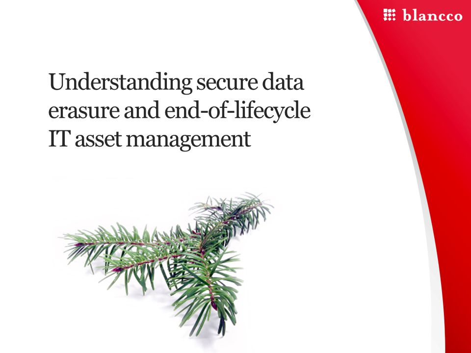 Understanding secure data erasure and end-of-lifecycle IT asset management