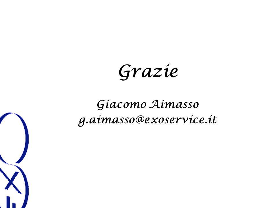 Grazie Giacomo Aimasso g.aimasso@exoservice.it
